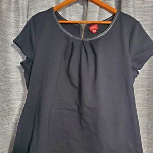4for$25 Merona Top with Vegan Leather Trim